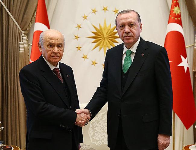 AKP; MHP liderleri yaklaşan seçimler için seçim ittifakı modelini tamamlamak üzere bir araya geldi
