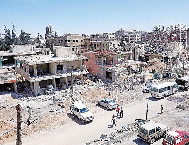 Kimyasal müfettişler, Batı grevlerinden günler sonra Douma'ya çabalar.