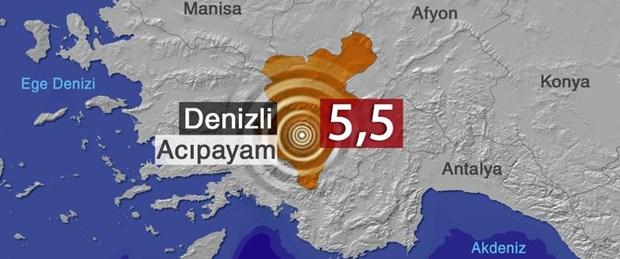 SON DAKİKA: Denizli'de 5,5'lik deprem