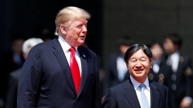 Trump Japonya'da: ABD başkanı İmparator Naruhito karşılar