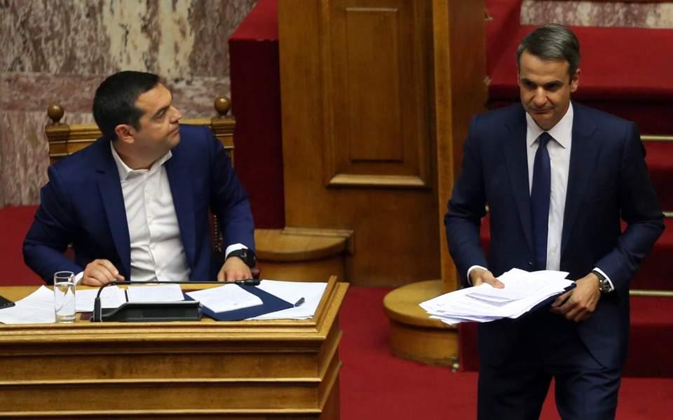 Başbakan, ND genel başkanının sert meclis tartışmalarında çatışmasına neden oldu