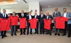 TİAB'dan TFF Başkanı Nihat Özdemir'e ziyaret