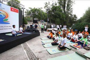 Hindistan'ın Türkiye'ye misyonu Uluslararası Yoga Günü'nü kutladı
