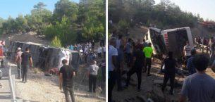 Mersin'de askerleri taşıyan otobüs kaza yaptı! Şehit ve yaralılar var
