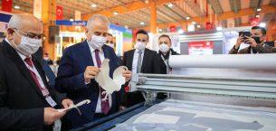 Başkan Zolan Tekstil Makineleri Fuarı'nı ziyaret etti