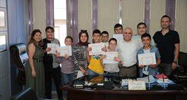 Özel çocuklar karne sevincini Büyükşehir ile paylaştı