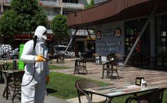 Sosyal yaşam merkezleri dezenfekte ediliyor