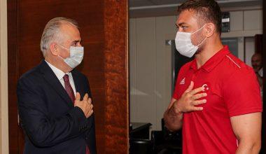 Avrupa Şampiyonu'ndan Başkan Zolan'a ziyaret